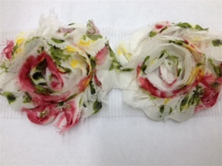 LNS-FLR-154-MULTI.  FLORAL LACE - MULTI-COLOR - 2 INCHES WIDE