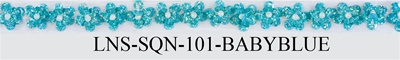 "LNS-SQN-101.  1/2""-wide Sequins Lace ( Non-Stretch)"