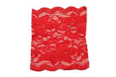 LST-REG-117-RED.  Stretch Lace