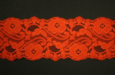 "LST-REG-372-ORANGE.  3.0""-wide Stretch Lace"