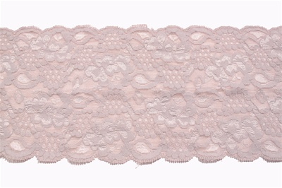 LST-REG-501-NUDE.  STRETCH LACE 5 INCH WIDE - NUDE