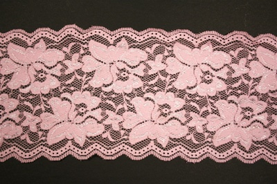 "LST-REG-607-PINK.  6.0""-wide Stretch Lace"