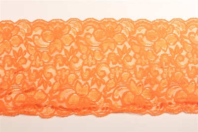 "LST-REG-609-ORANGE.  6.0""-wide Stretch Lace"