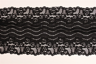"LST-REG-613-BLACK.  6.0""-wide Stretch Lace"