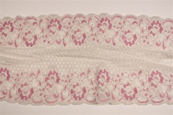 "LST-REG-614-WHITEPINK.  6.0""-wide Stretch Lace"