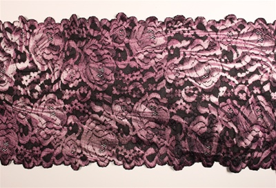 "LST-REG-701-PURPLEMULTI.  7.0""-wide Stretch Lace"