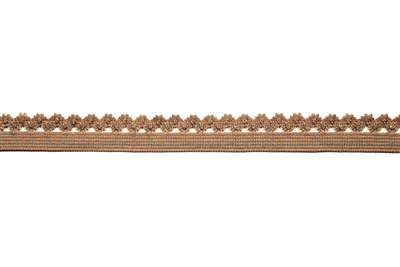 RBN-FOV-102-BROWN.  Foldover Elastic - 0.5 Inch - Brown