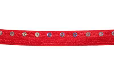 RBN-FOV-105-RED.  Foldover Elastic - 0.5 Inch - Red