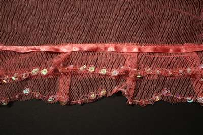 RUF-NST-105-PINK.  Non-Stretch Ruffle Lace.