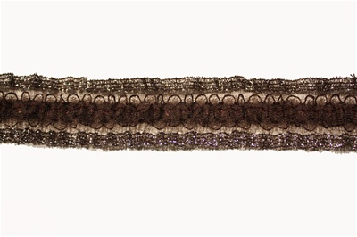 "RUF-STR-103.  1.0""-wide Stretch Ruffle Lace"