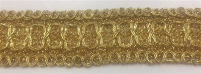 "Moda Trims TRM-GMP-005-GOLD. Gimp Trim - 1"" - Gold"
