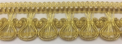 "Moda Trims TRM-GMP-009-GOLD. Gimp Trim - 1"" - Gold"