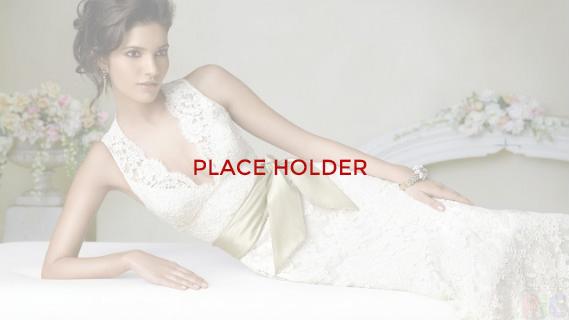 Rhinestone Trim Wedding Dress
